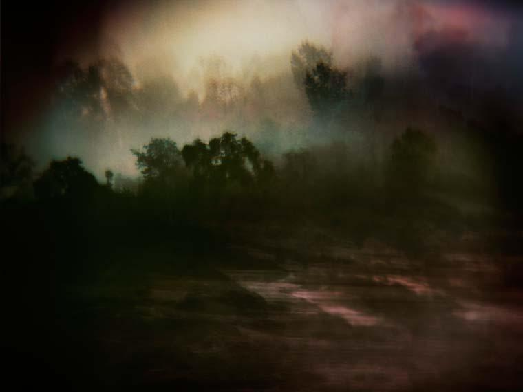 dark mekong sunset