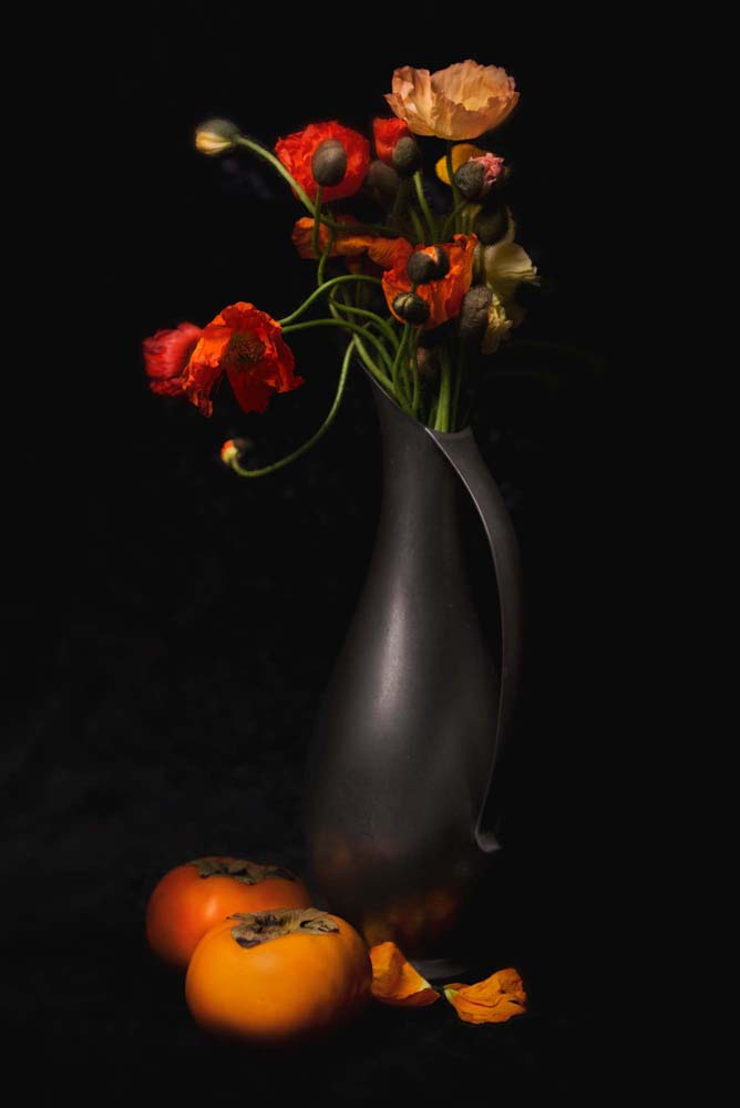 Poppies and Persimmon I