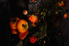 Poppies and Persimmon II